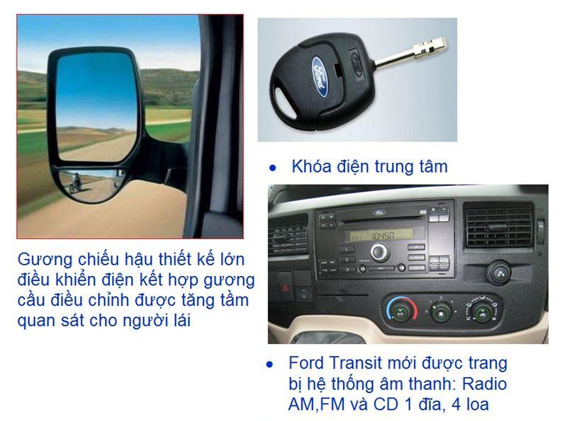 Đặc điểm kỹ thuật trên xe Ford Transit-4