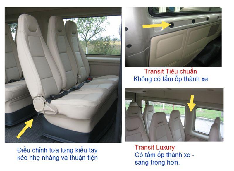Đặc điểm kỹ thuật trên xe Ford Transit-6