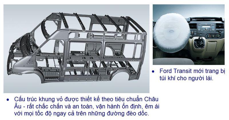 Đặc điểm kỹ thuật trên xe Ford Transit-7