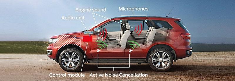 cách âm, hệ thống chống ồn trang bị trên xe Ford Everest 2019