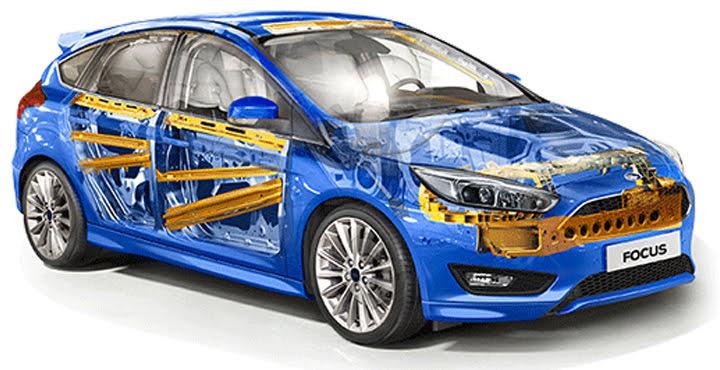 Ford Focus trang bị túi khí tạo cảm giác an toàn người lái